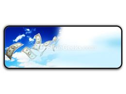 Dollar Bills Fly In Flocks PowerPoint Icon R