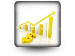 Dollar Graph PowerPoint Icon S