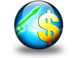 Dollar Increasing Value PowerPoint Icon C  Presentation Themes and Graphics Slide01