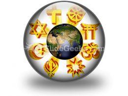 Earth Religious Symbols PowerPoint Icon C