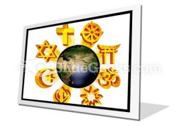 Earth Religious Symbols PowerPoint Icon F