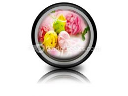 Easter Eggs And Spring Flowers PowerPoint Icon Cc
