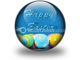 Easter Eggs PowerPoint Icon C