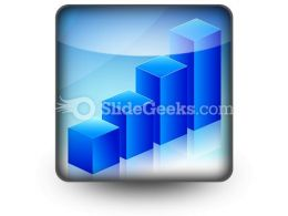 Economic Graph PowerPoint Icon S