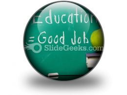 Education Equals Good Job PowerPoint Icon C