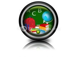 Education PowerPoint Icon Cc