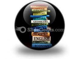 Education Study Books PowerPoint Icon C