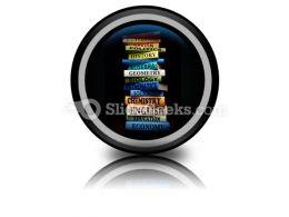 Education Study Books PowerPoint Icon Cc