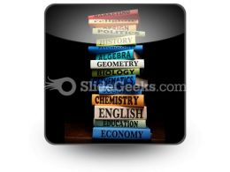 Education Study Books PowerPoint Icon S