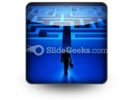 Entering The Labyrinth Ppt Icon For Ppt Templates And Slides S