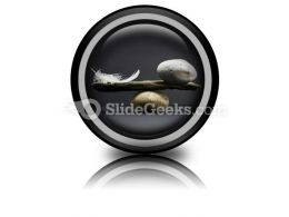 Feather Stone Balance PowerPoint Icon Cc