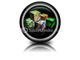 Finance Cubes PowerPoint Icon Cc
