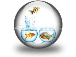 Fish Runs Away PowerPoint Icon C