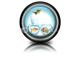 Fish Runs Away PowerPoint Icon Cc