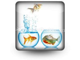 Fish Runs Away PowerPoint Icon S