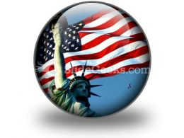 Flight To Liberty PowerPoint Icon C
