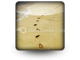 Footprints PowerPoint Icon S