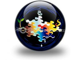Four Elements Of Nature PowerPoint Icon C