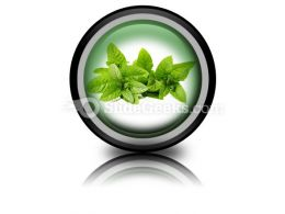 Fresh Green Mint Leaves PowerPoint Icon Cc