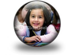 Girl Studying PowerPoint Icon C