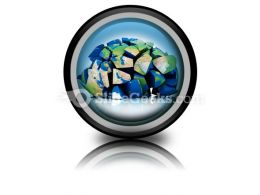 Global Destruction PowerPoint Icon Cc