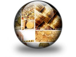 Gold And Old Coins PowerPoint Icon C