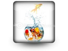 Gold Fish PowerPoint Icon S