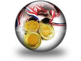 Gold Medals PowerPoint Icon C
