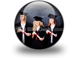 Graduate People PowerPoint Icon C  Presentation Themes and Graphics Slide01