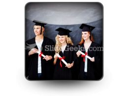 Graduate People PowerPoint Icon S  Presentation Themes and Graphics Slide01