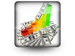 Graph With Money PowerPoint Icon S