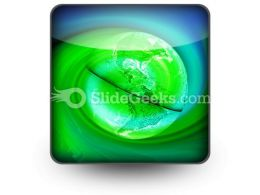 Green Earth PowerPoint Icon S