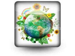 Green Nature Earth PowerPoint Icon S