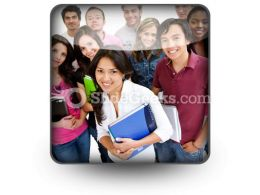 Group Of Students01 PowerPoint Icon S