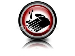 Hand Washing Circle PowerPoint Icon Cc