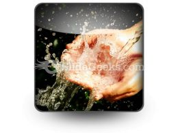 Hands Wash PowerPoint Icon S