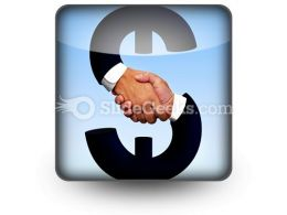 Handshake With Money PowerPoint Icon S