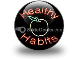 Healthy Habits PowerPoint Icon C