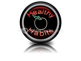 Healthy Habits PowerPoint Icon Cc