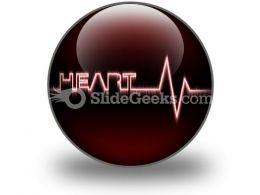 Heart Beat PowerPoint Icon C