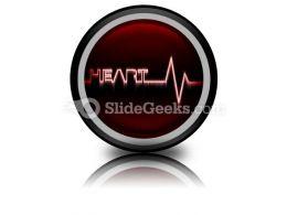 Heart Beat PowerPoint Icon Cc