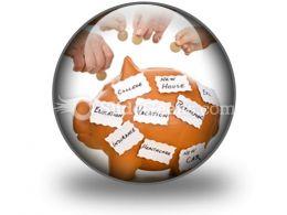 Home Finances Concept PowerPoint Icon C