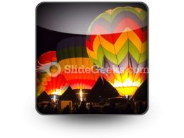 Hot Air Baloons People PowerPoint Icon S