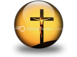 Jesus Christ PowerPoint Icon C  Presentation Themes and Graphics Slide01