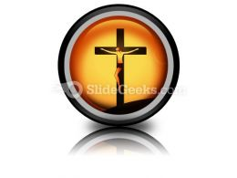 Jesus Christ PowerPoint Icon Cc  Presentation Themes and Graphics Slide01