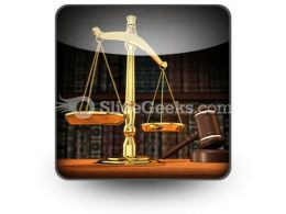 Law Justice PowerPoint Icon S