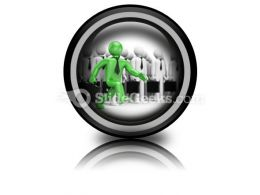 Leadership Business PowerPoint Icon Cc