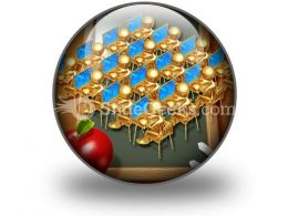 Little Golden Students PowerPoint Icon C