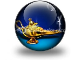 Magic Lamp PowerPoint Icon C