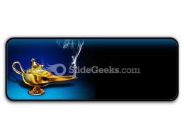 Magic Lamp PowerPoint Icon R